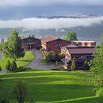 """Bilde av Honne Hotell og Konferansesenter tatt fra """"koia"""" i 2011. Fotograf: Arne Nyaas"""